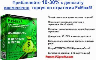Прибыльная стратегия fxmax5 на рынке форекс