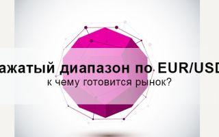 Зажатый диапазон по eur/usd: к чему готовится рынок?